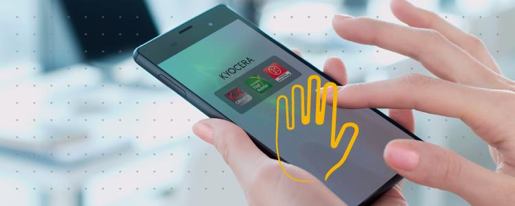 Dispositivos conectados con las appas de Kyocera